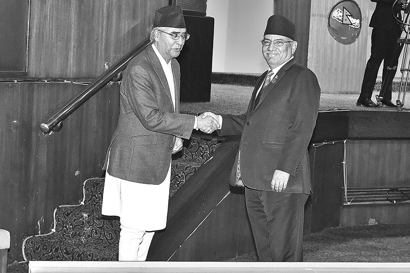 Sher Bahadur Deuba (left) and Pushpa Kamal Dahal are the major parties in the transitional justice process. Post file Photo